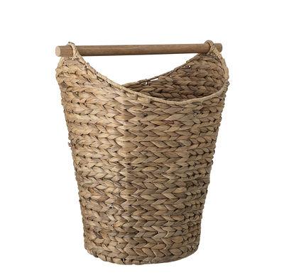 Interni - Per bambini - Cestino - Con manico in legno / Giacinto d'acqua di Bloomingville - Fibra naturale - Jacinthe d'eau