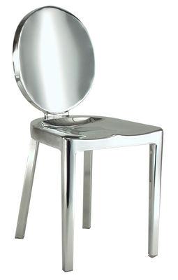 Mobilier - Chaises, fauteuils de salle à manger - Chaise Kong / Aluminium - Emeco - Aluminium poli - Aluminium poli recyclé