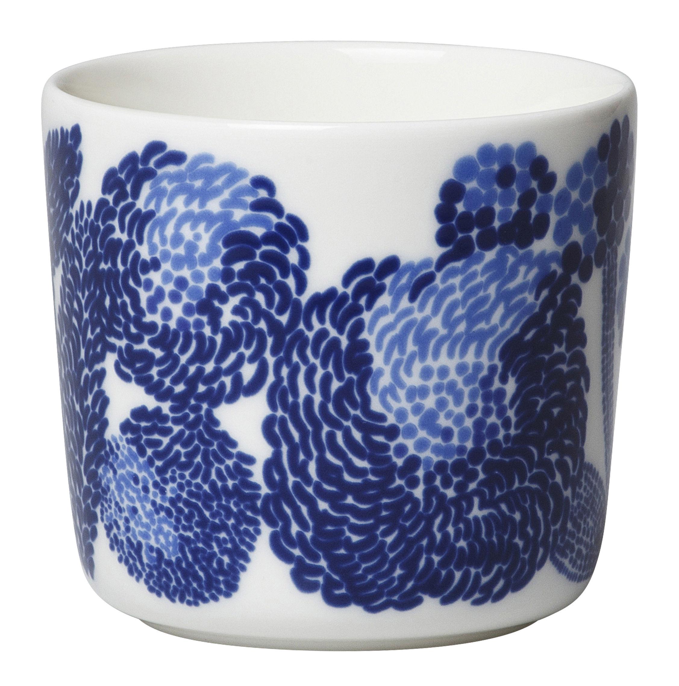 Tableware - Coffee Mugs & Tea Cups - Oiva Mynsteri Coffee cup - / Sans anse by Marimekko - Mynsteri / Blanc & bleu - Sandstone