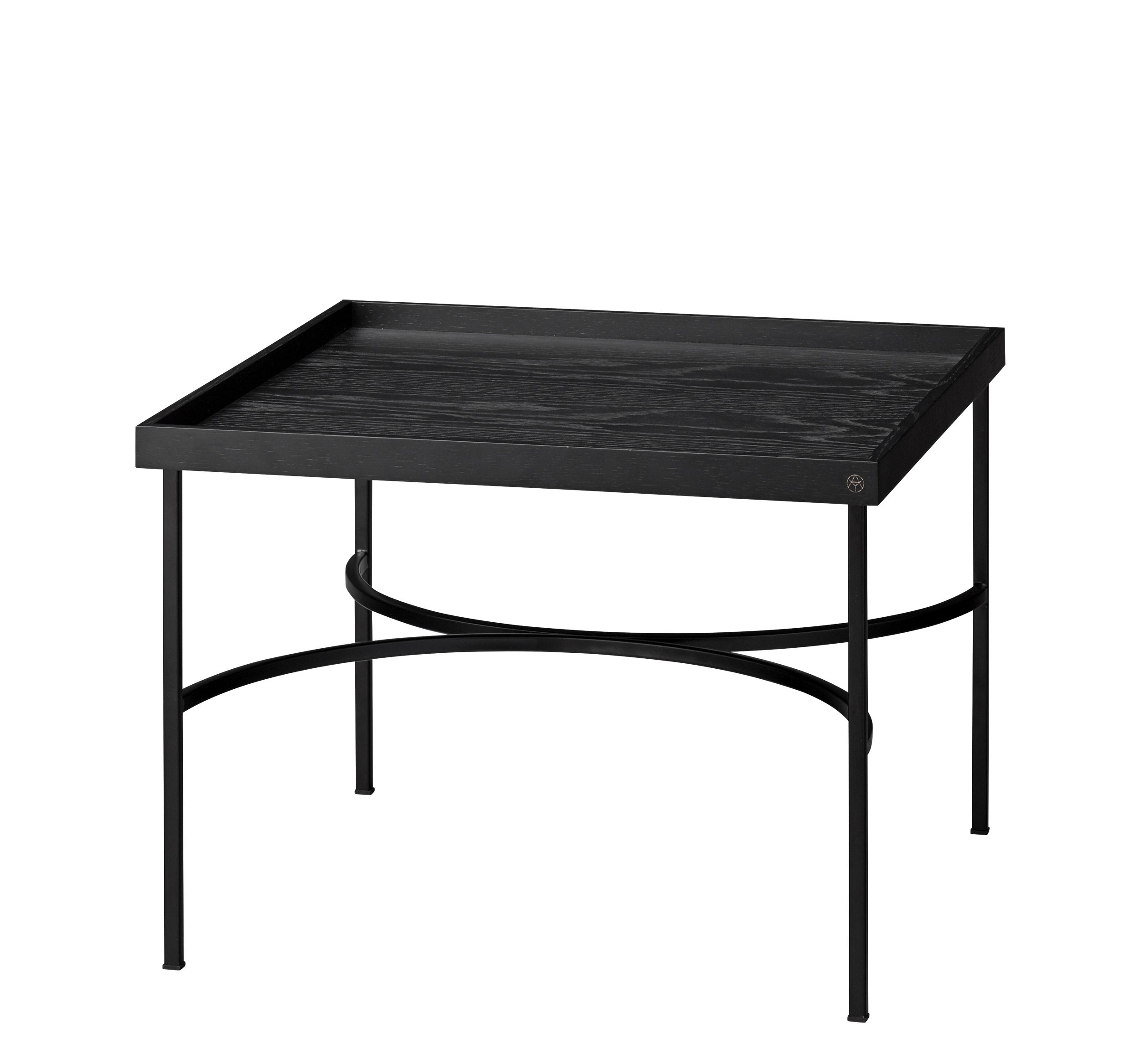 Furniture - Coffee Tables - Unity Coffee table - / Chêne & fer by AYTM - Noir - Lacquered iron, Oak
