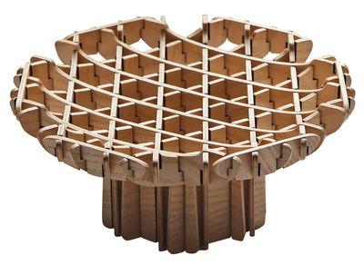 Déco - Corbeilles, centres de table, vide-poches - Coupe Cross / Bois - Sur pied - Ø 23 cm - Spécimen Editions - Bois naturel - MDF