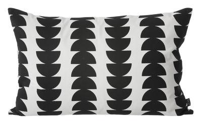 Déco - Coussins - Coussin Semicircle / 60 x 40 cm - Ferm Living - Demi-cercle / Noir & blanc - Coton