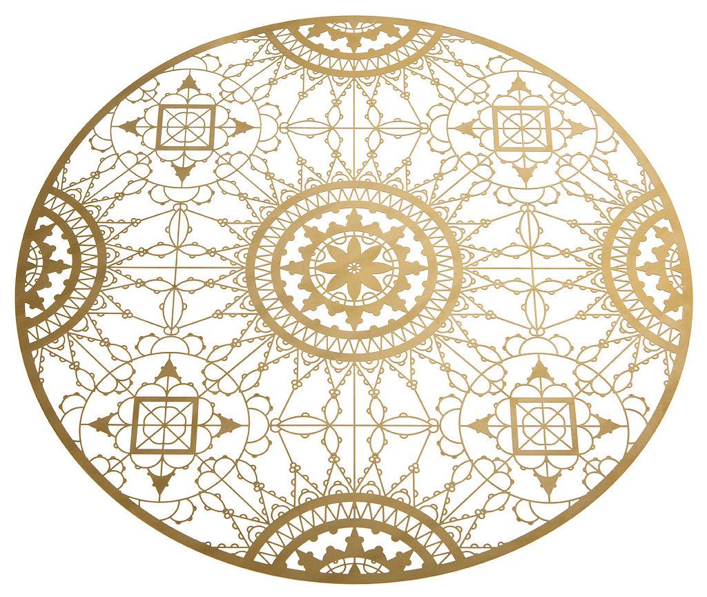 Arts de la table - Dessous de plat - Dessous de plat Italic Lace / Ø 34 cm - Dessous de plat - Laiton - Driade Kosmo - Laiton - Laiton
