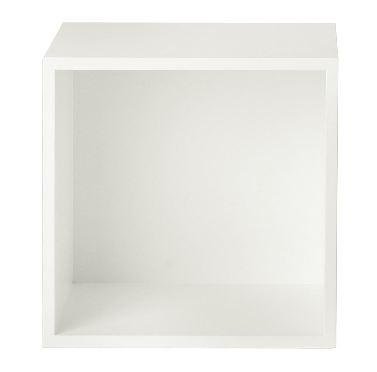 Mobilier - Etagères & bibliothèques - Etagère Stacked / Medium carré 43x43 cm /  Avec fond - Muuto - Blanc crème - MDF peint