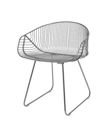 Mobilier - Chaises, fauteuils de salle à manger - Fauteuil River / Métal - Bloomingville - Métal - Métal