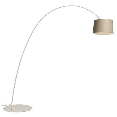 Lighting - Floor lamps - Twiggy Elle Wood Floor lamp - / LED - Maple / H 232 to 251 cm / Depth 260 cm by Foscarini - Light grey / bleached maple - Bleached maple, Composite material, Fibreglass, Varnished metal