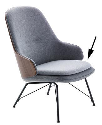 Galette d'assise / Pour fauteuil Judy - Zanotta gris clair en tissu