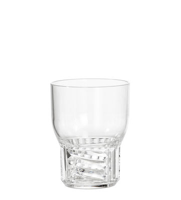 Tableware - Wine Glasses & Glassware - Trama Small Glass - / H 11 cm by Kartell - Crystal - Technopolymer