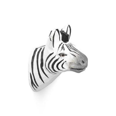 Furniture - Coat Racks & Pegs - Animal Hook - / Zebra - Hand sculpted by Ferm Living - Zebra - Glass, Poplar wood
