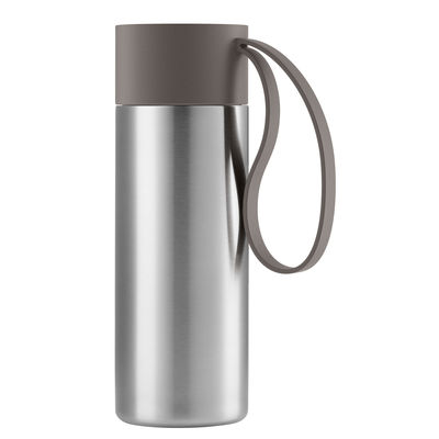 Tableware - Coffee Mugs & Tea Cups - To Go Cup Insulated mug - / With lid - 0.35 L by Eva Solo - Taupe - Plastic, Silicone, Stainless steel