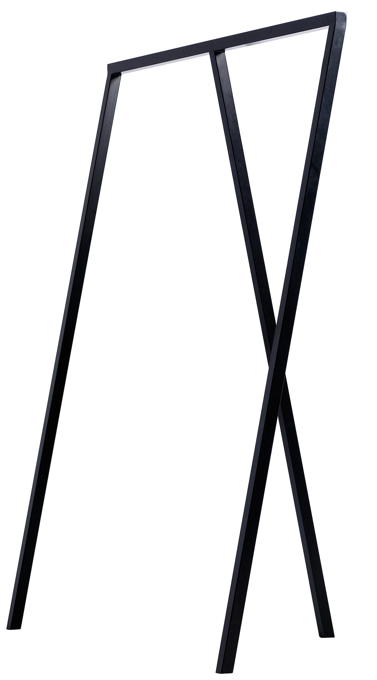 Möbel - Garderoben und Kleiderhaken - Loop Kleiderständer B 130 cm - Hay - Schwarz - lackierter Stahl