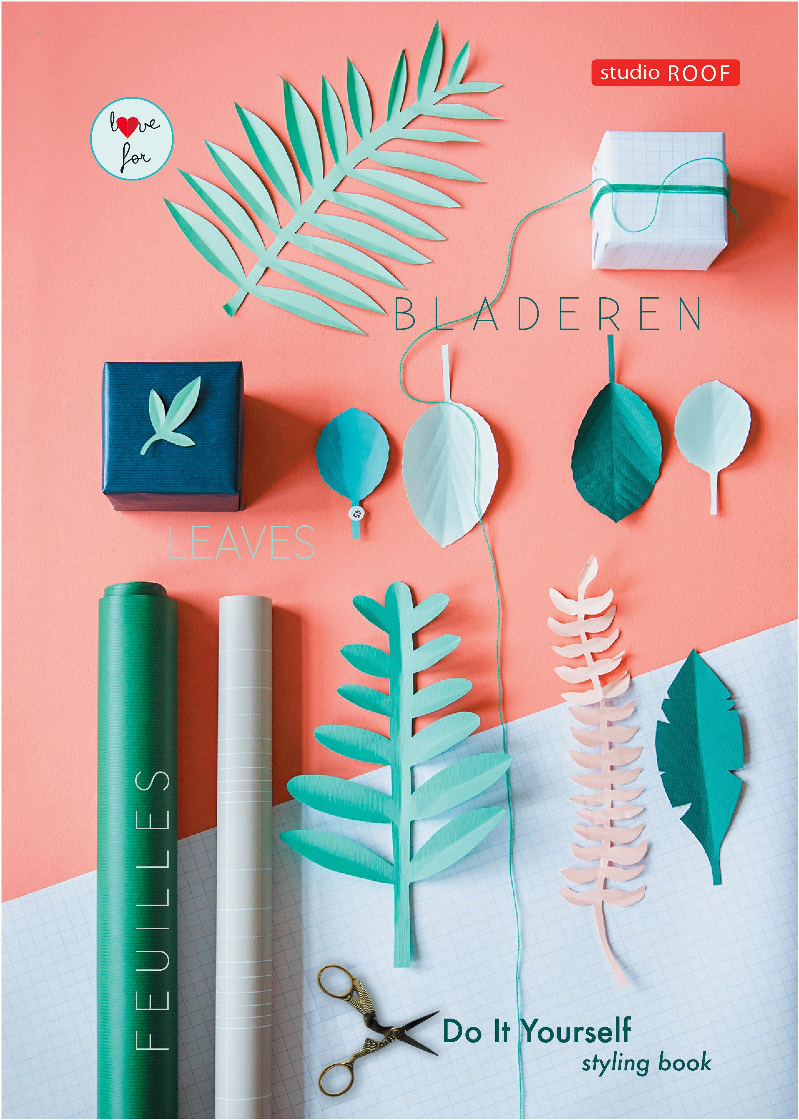 Déco - Pour les enfants - Livre DIY Styling / Activités de découpage - studio ROOF - Feuilles vertes - Papier 120 gr