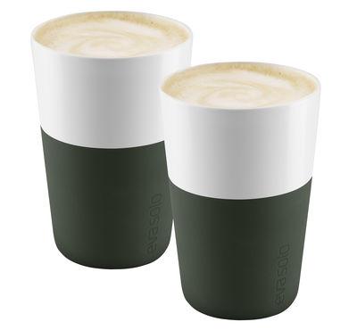 Mug Cafe Latte / Set de 2 - 360 ml - Eva Solo vert forêt en céramique