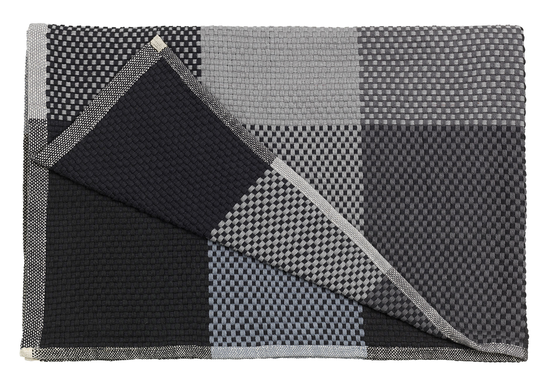 Decoration - Bedding & Bath Towels - Loom Plaid - 130 x 180 cm by Muuto - Black - Cotton