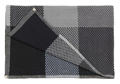 Plaid Loom / 130 x 180 cm - Muuto gris,noir en tissu