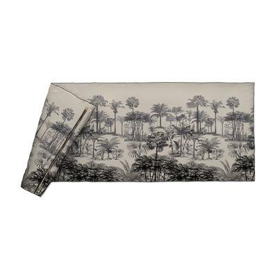 Decoration - Bedding & Bath Towels - Tresors Plaid - / Velvet - 85 x 200 cm by Beaumont - Palmiers no. 2 / Black & White - Fabric, Polyester, Velvet