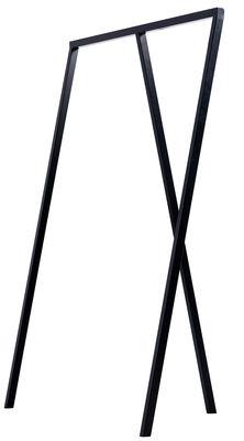 Mobilier - Portemanteaux, patères & portants - Portant Loop / L 130 cm - Hay - Noir - Acier laqué