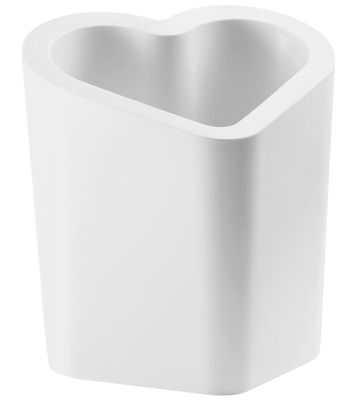 Pot de fleurs Mon Amour - Slide blanc en matière plastique
