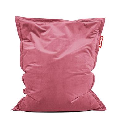 Pouf Original Slim Velvet / Velours - 155 x 120 cm - Fatboy 155 x 120 cm rose en tissu