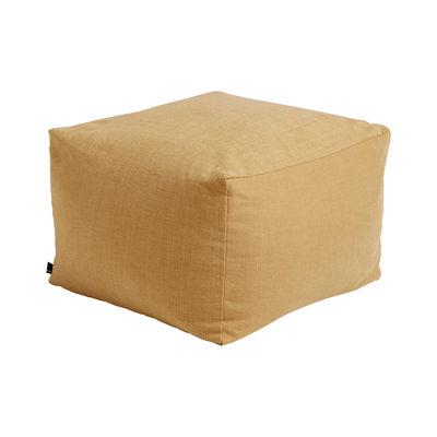 Mobilier - Poufs - Pouf Varer / Tissu - 59 x 59 cm - Hay - Moutarde - billes EPS, Tissu