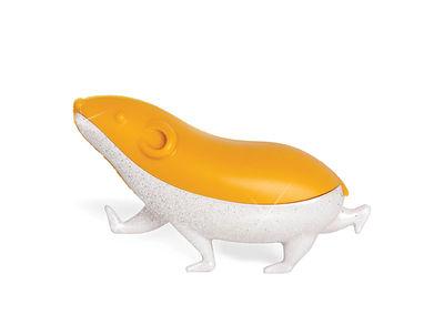 Accessori moda - Pratici e intelligenti - Riflettore da bici Speedy - / Criceto di Pa Design - Arancione & bianco brillante - ABS, Gomma