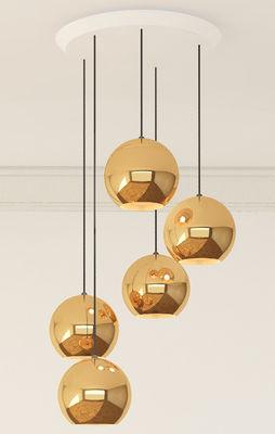 Illuminazione - Lampadari - Rosone - Multiplo / Per connettere da 2 a 14 sospensioni Tom Dixon di Tom Dixon - Bianco - Metallo, Plastica
