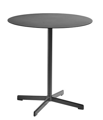 Outdoor - Garden Tables - Neu Round table - Ø 70 cm by Hay - Charcoal - Epoxy lacquered cast aluminium, Epoxy lacquered steel