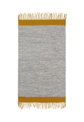 Decoration - Rugs - Melange Rug - / 60 x 100 cm - Hand woven by Ferm Living - Grey - 100% cotton