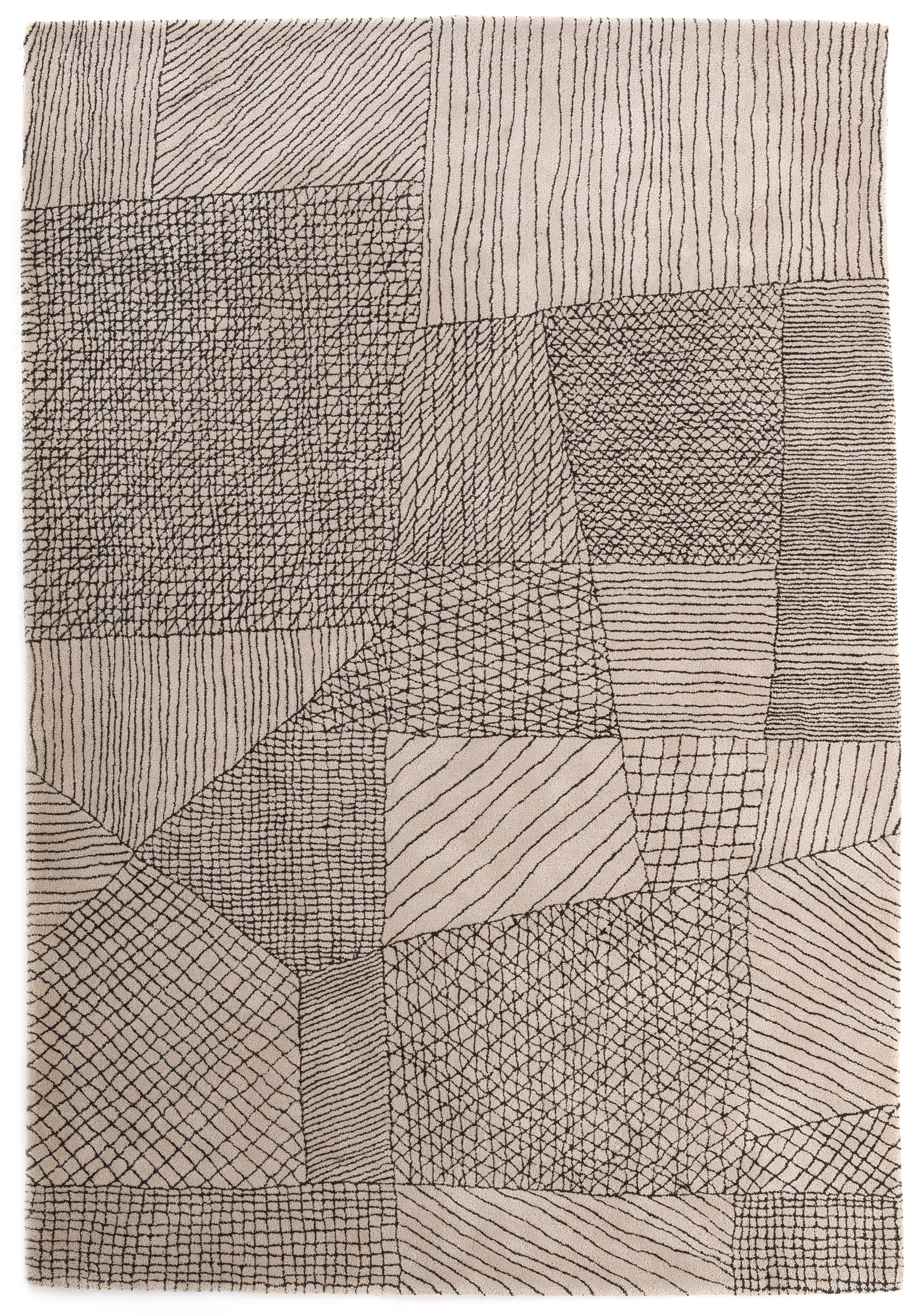 Decoration - Rugs - Traced Rug by Nanimarquina - Light beige - Pure wool