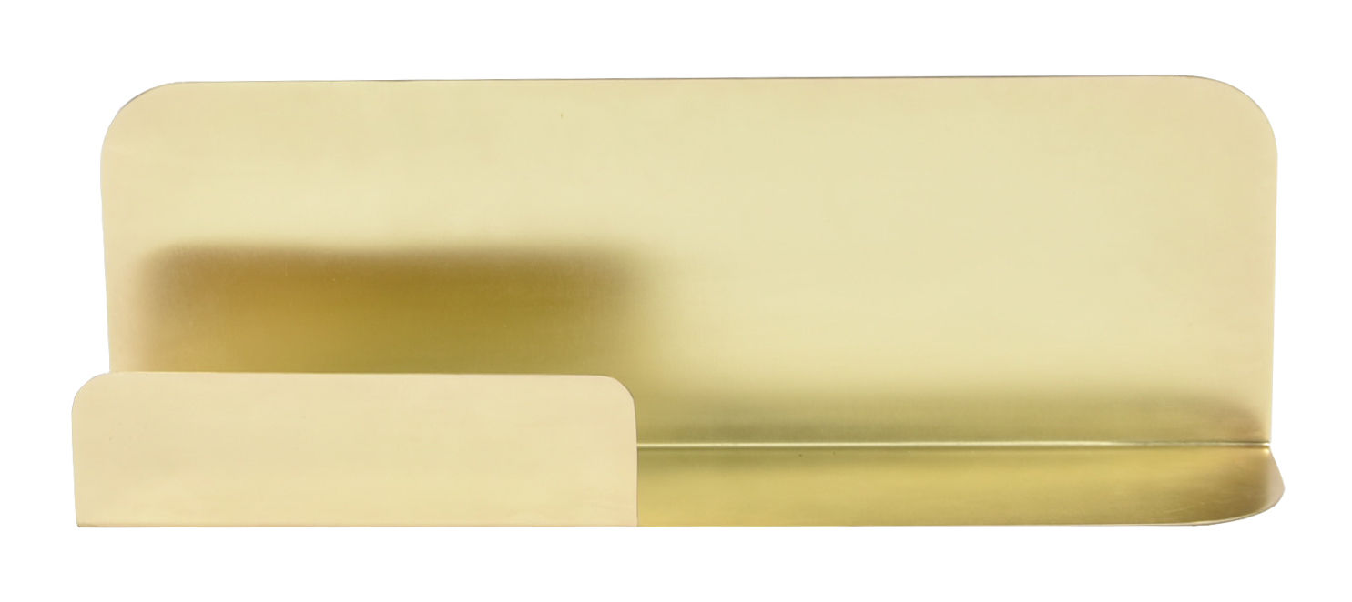 Arredamento - Scaffali e librerie - Scaffale murale Archal - / Rettangolare - L 52 x H 17 cm di ENOstudio - Ottone / Rettangolare - Acciaio con finitura in ottone
