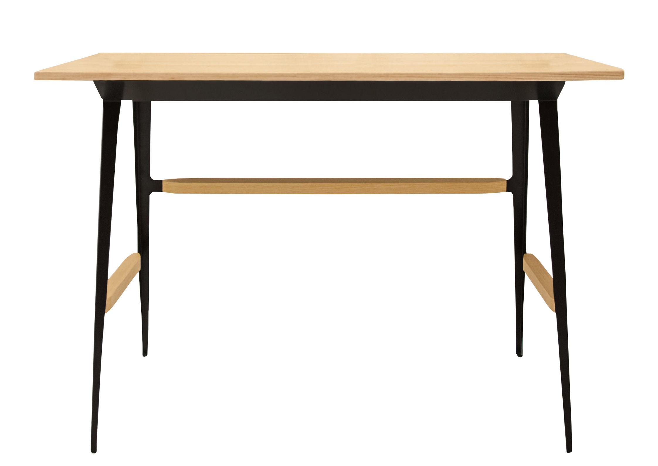 Arredamento - Mobili da ufficio - Scrivania Portable Atelier / Moleskine - Driade - Scrivania legno & nero - Acciaio laccato, Compensato di betulla