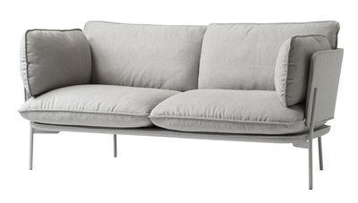 Möbel - Sofas - Cloud LN2 Sofa / 2-Sitzer - L 168 cm - And Tradition - Grau - Kvadrat-Gewebe, lackiertes Metall