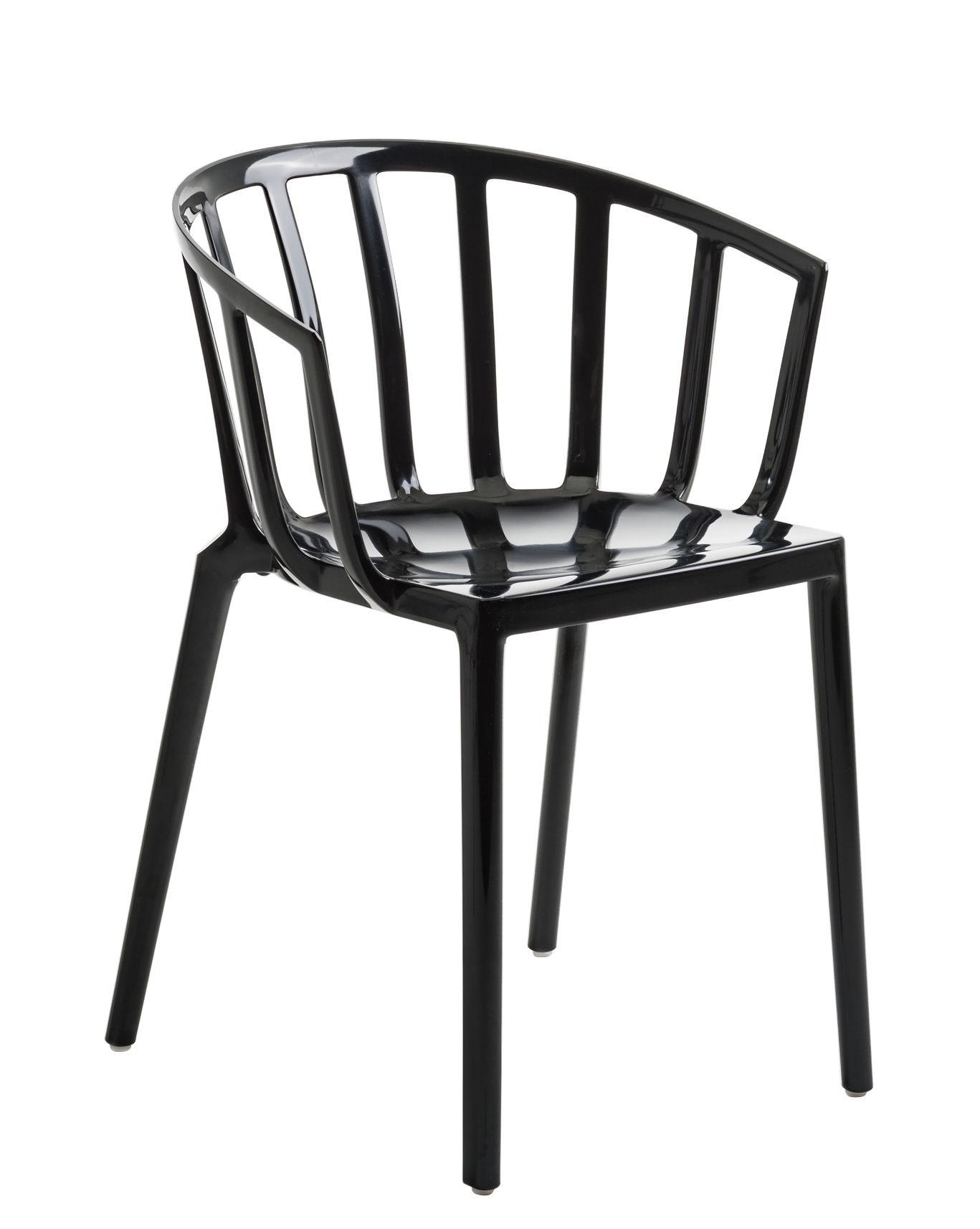 Möbel - Stühle  - Generic AC Venice Stapelbarer Sessel / Polykarbonat - Kartell - Schwarz - Polykarbonat