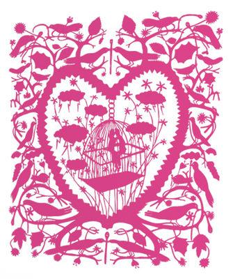 Sticker Caged Lovers - Domestic rose en matière plastique