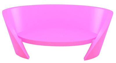Outdoor - Sofas - Rap Straight sofa by Slide - Fuchsia pink - recyclable polyethylene