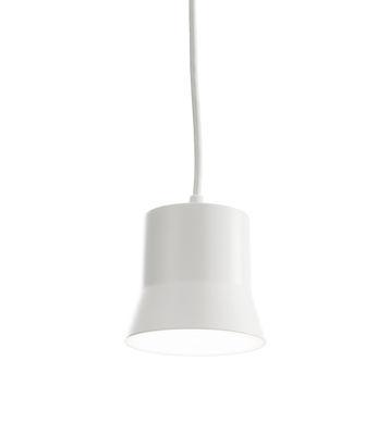 Luminaire - Suspensions - Suspension Gio Light / LED - Ø 10,7 cm - Artemide - Blanc / Câble blanc - Aluminium, Verre