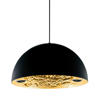 Suspension Stchu-moon 02 / LED - Ø 80 cm - Cuillères - Catellani & Smith noir,or en métal