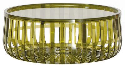 Table basse Panier / Coffre - Kartell vert en matière plastique