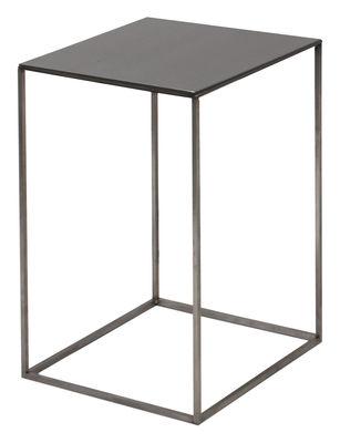 Table basse Slim Irony / 31 x 31 x H 46 cm - Zeus noir cuivré,noir phosphaté en métal