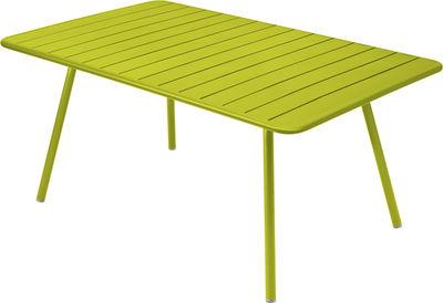 Table Luxembourg / 6 à 8 personnes - 165 x 100 cm - Fermob verveine en métal