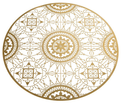 Tableware - Table Mats & Trivets - Italic Lace Tablemat - Trivet - Ø 34 cm by Driade Kosmo - Brass - Brass