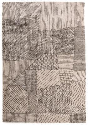 Dekoration - Teppiche - Traced Teppich / exklusiv bei Made In Design - 240 x 170 cm - Nanimarquina - Cremefarben -   Pure laine