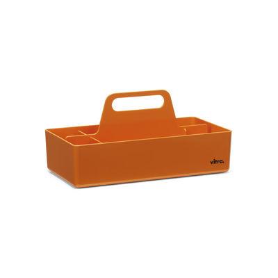 Image of Vaschetta portaoggetti Toolbox - / Scompartimentato - 32 x 16 cm di Vitra - Arancione - Materiale plastico