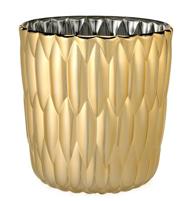 Decoration - Vases - Jelly Vase by Kartell - Gold - Mettalized PMMA