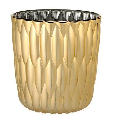 Dekoration - Vasen - Jelly Vase / metallic - Kartell - Goldfarben - Metallisierte PMMA