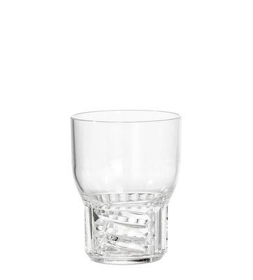 Verre Trama Small / H 11 cm - Kartell transparent en matière plastique