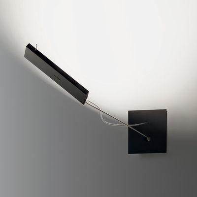 Lighting - Wall Lights - WaLL.E.D Wall light - LED / Swivelling by Ingo Maurer - Black - Anodized aluminium, Metal, Plastic material