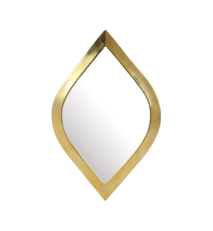 Dekoration - Spiegel - Medina Eye Wandspiegel / 19 x 30 cm - & klevering - Auge / messingfarben - Glas, Metall