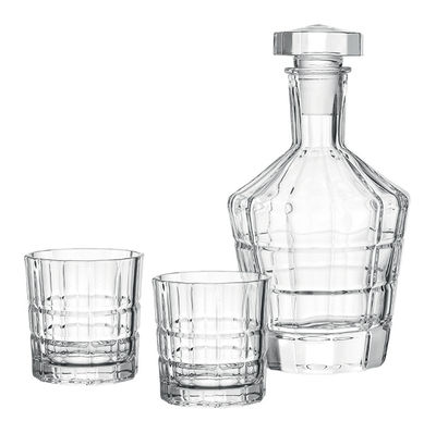 Tableware - Water Carafes & Wine Decanters - Spiritii Whisky carafe - / + 2 glasses by Leonardo - Transparen - Glass