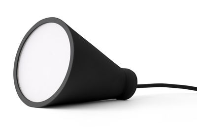 Lighting - Table Lamps - Bollard Wireless lamp - Silicone - H 13 cm by Menu - Black - Plastic, Silicone